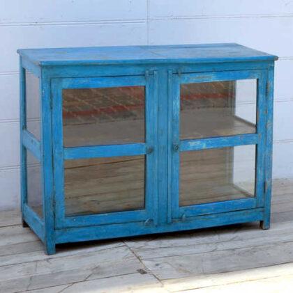 kh19 RS2020 096 indian furniture cabinet glass panelled left