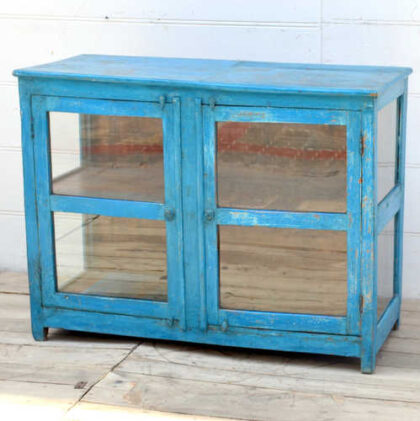kh19 RS2020 096 indian furniture cabinet glass panelled right