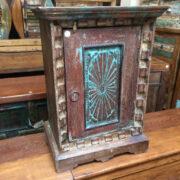 k69 2529 2 indian furniture carved bedside cabinet sunburst blue main