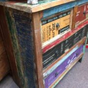 k44 2246 indian furniture chest of unusual reclaimed drawers left