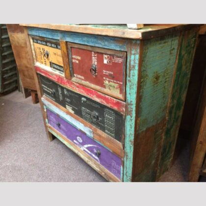 k44 2246 indian furniture chest of unusual reclaimed drawers main