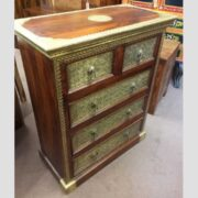 k73 3641 indian furniture rosewood persian drawers of chest left
