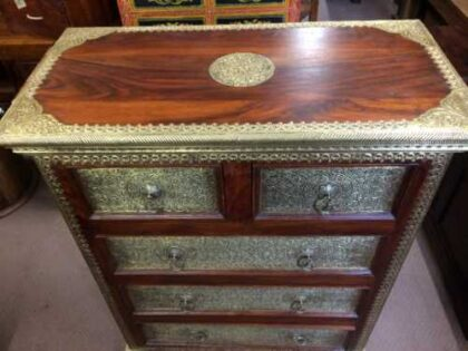 k73 3641 indian furniture rosewood persian drawers of chest top
