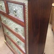 k73 3641 indian furniture rosewood persian drawers of chest right