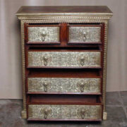 k73 3641 indian furniture rosewood persian drawers of chest open