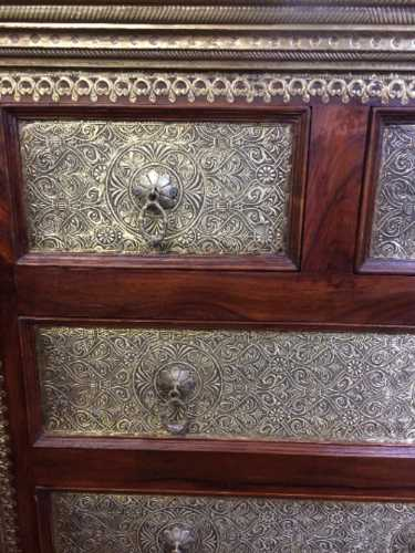 k73 3641 indian furniture rosewood persian drawers of chest close
