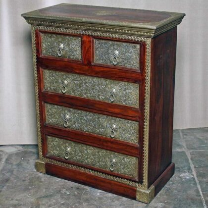 k73 3641 indian furniture rosewood persian drawers of chest main