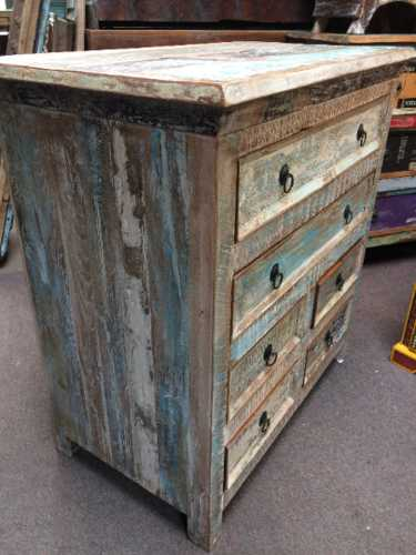 k73 40208 indian furniture pastel chest of drawers left