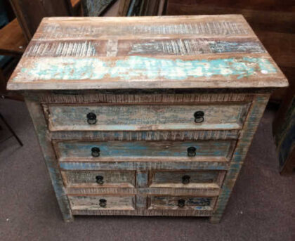 k73 40208 indian furniture pastel chest of drawers top