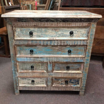 k73 40208 indian furniture pastel chest of drawers front
