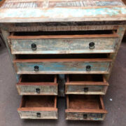 k73 40208 indian furniture pastel chest of drawers open