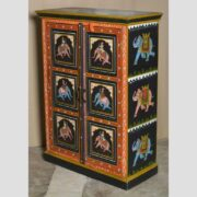 k74 10 indian furniture black hand painted cabinet main