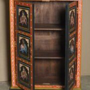 k74 10 indian furniture black hand painted cabinet open