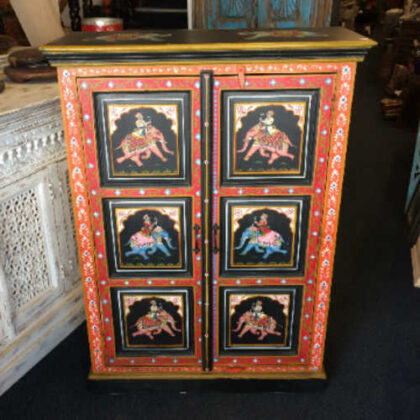k74 10 indian furniture black hand painted cabinet front