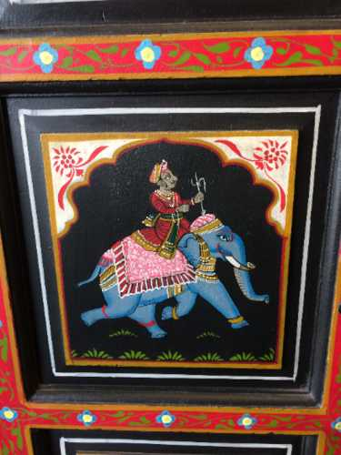 k74 10 indian furniture black hand painted cabinet close