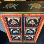 k74 10 indian furniture black hand painted cabinet top