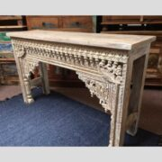 k74 20 indian furniture nodule carved console table white main