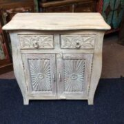 k74 70 indian furniture sideboard small curvy white front