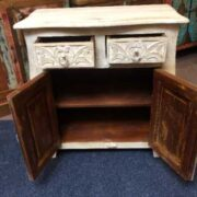 k74 70 indian furniture sideboard small curvy white open