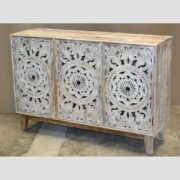 k74 71 indian furniture 3 door white sideboard intricate main