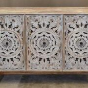 k74 71 indian furniture 3 door white sideboard intricate front