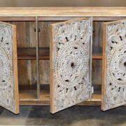 k74 71 indian furniture 3 door white sideboard intricate open