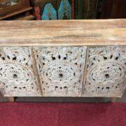 k74 71 indian furniture 3 door white sideboard intricate top