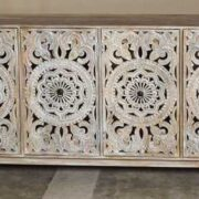 k74 72 indian furniture carved white sideboard large intricate front
