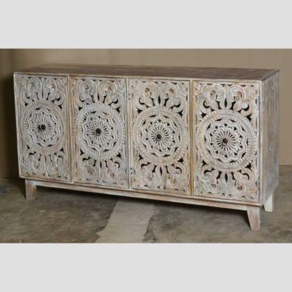 k74 72 indian furniture carved white sideboard large intricate main