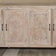 k74 79 indian furniture large carved sideboard white front