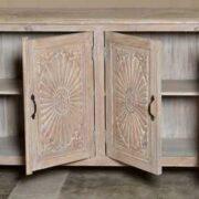 k74 79 indian furniture large carved sideboard white open