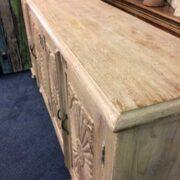 k74 79 indian furniture large carved sideboard white top