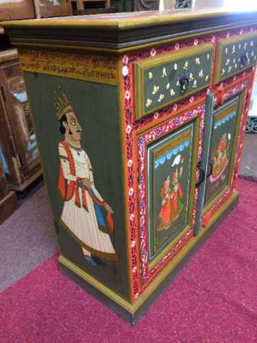k74 8 indian furniture sideboard hand painted green small side