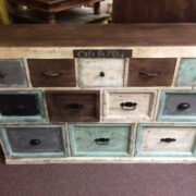 kh10 m 8133 indian furniture chest shabby top