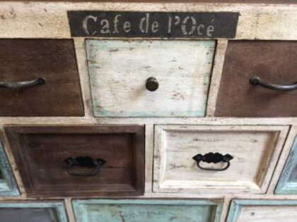 kh10 m 8133 indian furniture chest shabby close