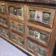 kh20 172 indian furniture chest 9 drawers reclaimed buddha right