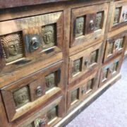 kh20 172 indian furniture chest 9 drawers reclaimed buddha left
