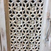 K73 90700 indian furniture sideboard large stylish carved white close door