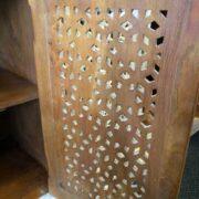 K73 90700 indian furniture sideboard large stylish carved white back door