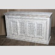 K73 90700 indian furniture sideboard large stylish carved white main