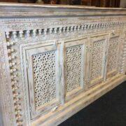 K73 90700 indian furniture sideboard large stylish carved white left