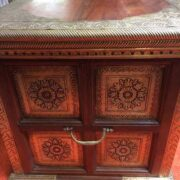 k73 3646m indian furniture trunk sheesham embossed persian side