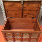 k73 3646m indian furniture trunk sheesham embossed persian inside