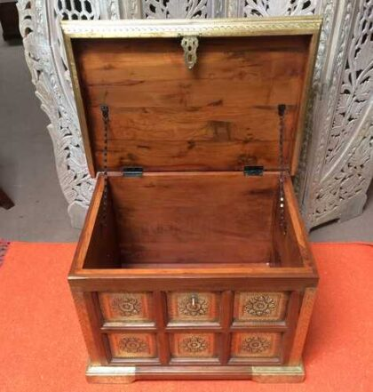 k73 3646s indian furniture trunk storage small persian embossed open