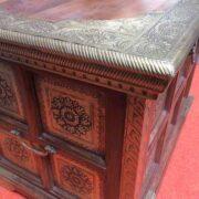 k73 3646s indian furniture trunk storage small persian embossed corner