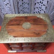 k73 3646s indian furniture trunk storage small persian embossed top