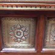 k73 3646s indian furniture trunk storage small persian embossed close