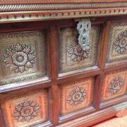 k73 3646s indian furniture trunk storage small persian embossed close front