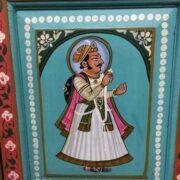 k74 13 indian furniture cabinet hand painted figures aquamarine figure 5