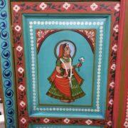 k74 13 indian furniture cabinet hand painted figures aquamarine figure 1